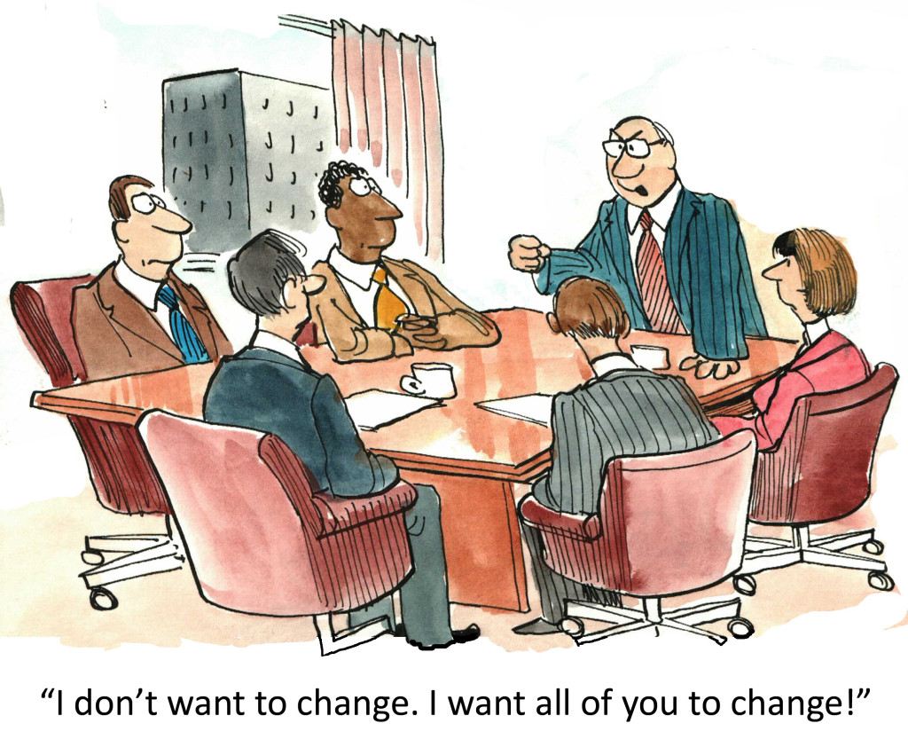 People don't resist change, they resist being changed. Explain?